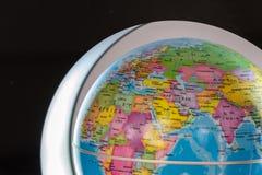 Widok ziemia z politycznymi granicami Obraz Royalty Free