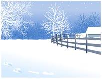 Widok zima ilustracji