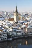 widok zima Zurich Fotografia Royalty Free