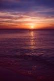 Widok zmierzch na Zanzibar wyspie Zdjęcia Royalty Free