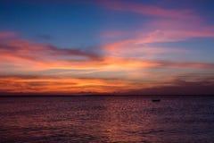 Widok zmierzch na Zanzibar wyspie Fotografia Stock