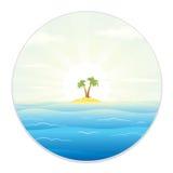 Widok zwrotnik wyspa od Śródpolnego szkła Zdjęcie Royalty Free