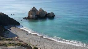 Widok zwykła wyspy linia brzegowa i otwarte morze Śródziemnomorska wyspa Cypr Pojęcie podróż zbiory