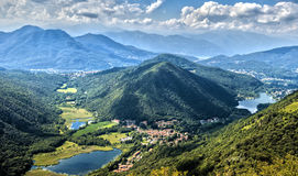 Widoki Alpejscy pogórza Varese Obrazy Stock