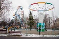 Widoki carousels w zimie Zdjęcie Stock