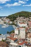 Widoki Chorwacja Piękny miasto rozłam chorwacki raj zdjęcie stock