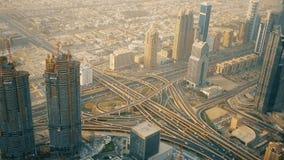 Widoki Dubai od Burj Khalifa budynku, Zjednoczone Emiraty Arabskie zbiory
