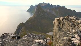 Widoki górscy w Troms okręgu administracyjnym zbiory wideo