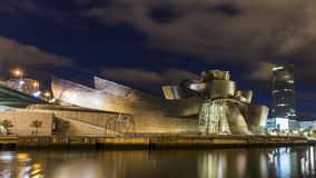 Widoki guggenheim muzeum w Bilbao Fotografia Stock