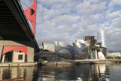 Widoki guggenheim muzeum w Bilbao Fotografia Royalty Free