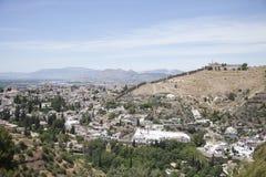 Widoki historyczny Granada, Hiszpania, Andalusia obrazy stock