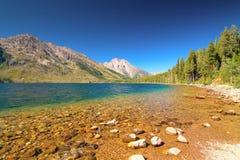 Widoki Jackson jeziora i Jenny Obraz Royalty Free