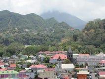 Widoki Karaibska wioska przed huraganem, obraz royalty free