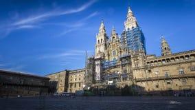 Widoki katedra Santiago De Compostela Obraz Royalty Free