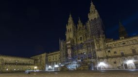 Widoki katedra Santiago De Compostela Fotografia Royalty Free