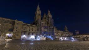 Widoki katedra Santiago De Compostela Obraz Stock