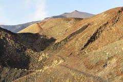 Widoki kratery g?ra Etna w Randazzo, Catania zdjęcia stock