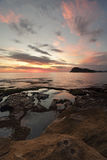 Widoki lew wyspa od Zielonego punktu, perły plaża Zdjęcia Stock