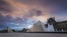 Widoki louvre muzeum w Paris Obrazy Royalty Free