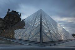 Widoki louvre muzeum w Paris Fotografia Stock