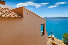 Widoki morze śródziemnomorskie od Paguera wioski zdjęcia stock