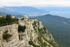 Widoki morze od wysokiej góry fotografia royalty free
