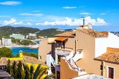 Widoki morze śródziemnomorskie od Paguera wioski Obrazy Stock