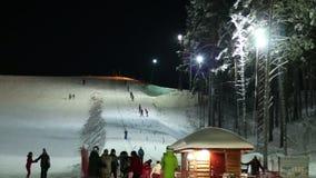 Widoki narciarski dźwignięcie zdjęcie wideo