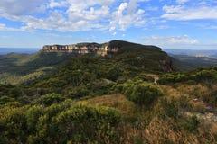Widoki Narrowneck plateau błękita góry Fotografia Royalty Free
