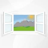 Widoki natura przez okno ilustracji
