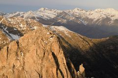 Widoki od Encantats szczytu Zdjęcie Royalty Free