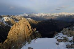 Widoki od Encantats szczytu Obrazy Royalty Free