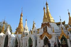 Widoki od Shwedagon pagody w Yangon, Myanmar Fotografia Royalty Free