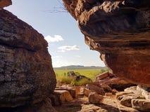 Widoki odludzie australijczyka floodplains Obraz Royalty Free