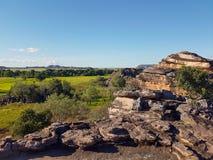 Widoki odludzie australijczyka floodplains Obrazy Royalty Free