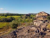 Widoki odludzie australijczyka floodplains Obraz Stock