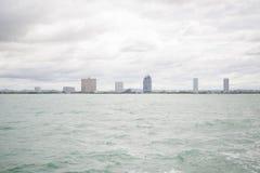 Widoki Pattaya od statku w zatoce Tajlandia Obrazy Stock