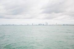 Widoki Pattaya od statku w zatoce Tajlandia Fotografia Royalty Free