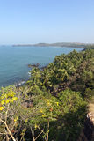 Widoki Południowy Goa wybrzeże obrazy royalty free