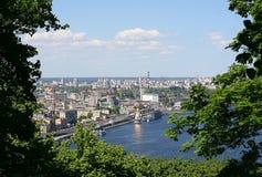 Widoki rzeka Podil w Kijów Zaporoski okręg i, Ukraina Zdjęcia Stock