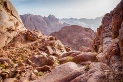 Widoki Synaj góry Zdjęcia Stock