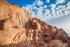 Widoki Synaj góry Fotografia Royalty Free