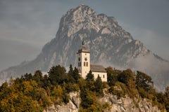 Widoki Traunkirchen, Traunsee, w Salzkammergut, Górny Austria Fotografia Royalty Free