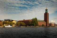 Widoki urząd miasta Stadshuset w Sztokholm, Szwecja Zdjęcia Stock