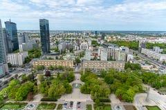 Widoki Warszawa z wierzchu pa?ac kultura i nauka obraz stock