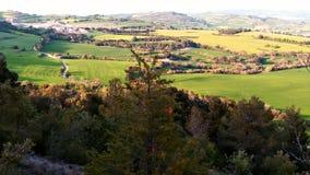 Widoki wieś od góry zdjęcia royalty free