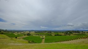Widoki woko?o Millfield i Cessnock w my?liwy dolinie, NSW, Australia zdjęcia stock