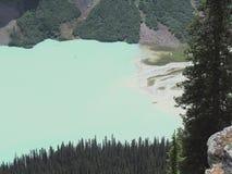 Widoki wycieczkuje wokoło śladu, równiny sześć lodowów, Jeziornego Agnes, Lustrzanego jeziora i Dużego ula Jeziornego Louise, Lak Obrazy Stock