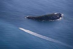 Widoku żeglowania łódź Zdjęcia Stock