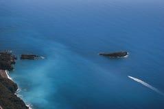 Widoku żeglowania łódź Fotografia Stock
